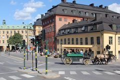 Street in Gamla stan stock photography