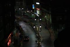 The street of Gangtok taken from the hotel room