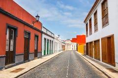 Street of Garachico Town on Tenerife stock photo