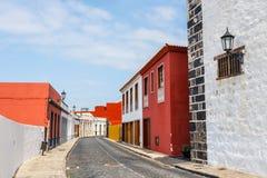 Street of Garachico Town on Tenerife Island stock photography