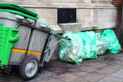 Street garbage cart Royalty Free Stock Photos