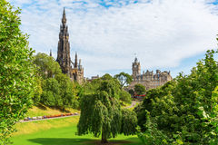 Street Gardens王子在爱丁堡,苏格兰 库存图片