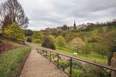 Street Gardens王子在爱丁堡 库存照片