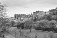 Street Gardens,爱丁堡王子。 免版税图库摄影