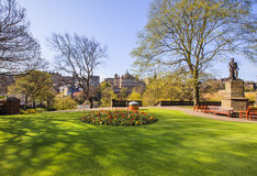 Street Gardens,爱丁堡王子 免版税库存图片