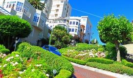 Street Gardens San Francisco. Lombard Street Gardens, crooked street in San Francisco stock photography