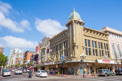 Street of The Gaslamp Quarter in San Diego Royalty Free Stock Photos