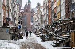 Street in Gdansk Royalty Free Stock Images