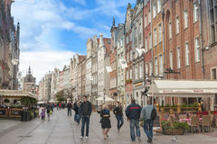 Street in Gdansk, Poland Royalty Free Stock Photo