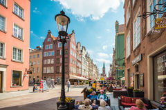 Street in Gdansk, Poland, Europe. Royalty Free Stock Photo