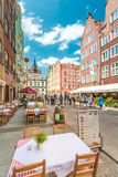 Street in Gdansk, Poland, Europe. Royalty Free Stock Photography