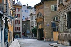 Street of Geneva city centre Royalty Free Stock Images
