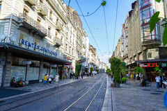 Street in Geneva, Switzerland Royalty Free Stock Photos