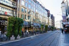 Street in Geneva, Switzerland Royalty Free Stock Image