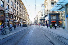 Street in Geneva, Switzerland Stock Images
