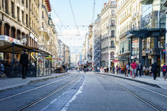 Street in Geneva, Switzerland Stock Photography