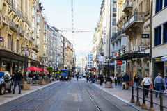 Street in Geneva, Switzerland Stock Image