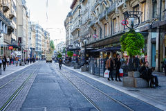 Street in Geneva, Switzerland Royalty Free Stock Photography