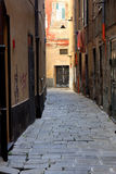 Street of Genoa, Italy Royalty Free Stock Photo