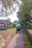 Street in Giethoorn Royalty Free Stock Images