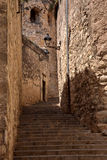 Street in Girona, Catalonia, Spain Royalty Free Stock Photos