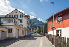 Street in Goldau Stock Photography