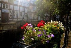 Street  in Goslar. In German in Harz. German Stock Photos