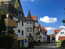 Street  in Goslar. In German in Harz. German Stock Image