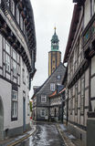 Street in Goslar, Germany Royalty Free Stock Photography