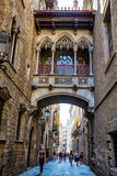 Street in gothic quarter, Barcelona Royalty Free Stock Photography