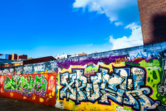 Street graffity in Dublin Stock Photography