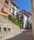 Street in Granada, Spain, arab quarter Royalty Free Stock Photos