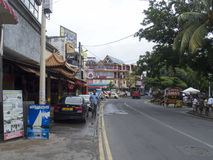 Street in Grand-Baie, Mauritius royalty free stock photography