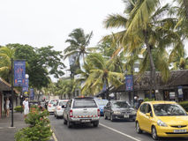 Street in Grand-Baie, Mauritius Stock Photo