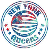 Street graphic style NYC. Queens city art. Fashion stylish print. Template apparel, card, label, poster. emblem, t-shirt stamp. Stock Photos