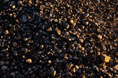 Street gravel close up picture royalty free stock photo
