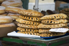 Street greek cake detail. They are often sold by street vendors in Greece Stock Photos