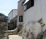 Street in Greek village Royalty Free Stock Photos