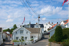 Street in Grimstad in Southern Norway Stock Photography