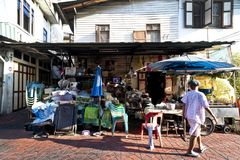 Street grocery store in Bangkok Thailand royalty free stock photos