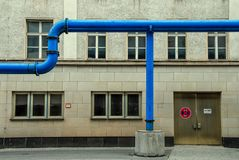 Street Groundwater pipeline. Construction in Berlin royalty free stock photo