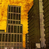 Street Grunge. Background grunge illustration of an urban street scene royalty free illustration