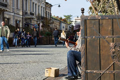 Street guitar player Royalty Free Stock Image