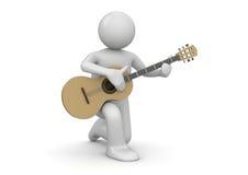 Street guitarist Stock Images