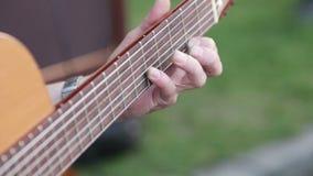 Street guitarist stock footage
