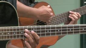 Street guitarists stock video footage