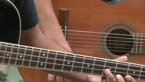 Street guitarists stock video
