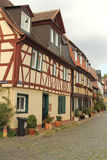 Street with half-timbered houses in Frankfurt am Main Stock Photos