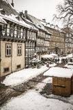 Street with half-timbered houses in Goslar, Germany Stock Photo