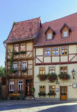 The street with half-timbered houses in Quedlinburg, Germany Royalty Free Stock Photo